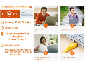 Jornada sobre el sistema cl@ve en Guadalinfo de Mengíbar