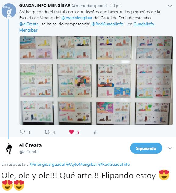 El Creata comenta una de las actividades del Centro Guadalinfo de Mengíbar