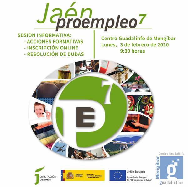 Sesión informativa sobre el programa Proempleo 7 de Diputación de Jaén en el Centro Guadalinfo de Mengíbar