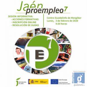 Sesión informativa sobre Proempleo 7 de Diputación de Jaén en Mengíbar
