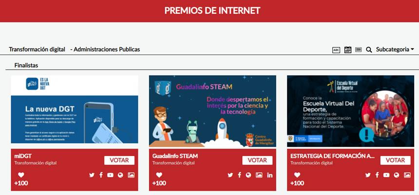 Guadalinfo STEAM en los Premios de Internet 2021